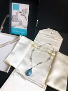 Aquamarine And Pearl Necklace Fine Jewelry By Fred Meyer Jewelers