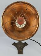 Antique 1920s Eagle 501 Copper Space Heater Electric Heat Industrial Table Lamp