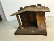 Vintage Transogram Usa Wood Manger Stable For Christmas Nativity 9.5 X 5x 7in