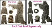 3d Camouflage Hunting Apparel Including Jacket Pants Hood Carry Bag Camo Clothes