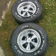 Vintage Crager G/t Mag Wheels Original 1973 Mustang 7 X 14 Set Of 2 Stock Ford