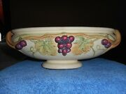 Weller Roma Console Vase Antique 1914-1920 Arts And Crafts Pottery Grapes And Vines