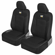 Caterpillar Truck Seat Covers For Front Seats Set - Black Automotive Seat Covers