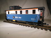 4071 Lgb White Pass Caboose Lights Metal Wheels G Scale