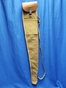 Wwi Us Army 1903 Springfield Rifle Case Early Pattern Canvas Bag Leather Ww1 Aef