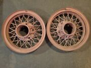 20x5.25 Farm Custom Ford 1931 Only Aa-1015-e Snap Ring Wire Wheels 5 X 8