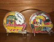 Vintage Handheld Pinball Machines Lot Of 2 Public Enemy And Jet