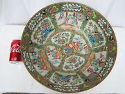 """Antique 19th C, Chinese Export Large 15.5"""" Famille Rose Medallion Punch Bowl"""