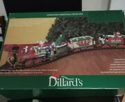 Dillard's Trimmings Animated Christmas Train Set G Scale By New Bright Set 383