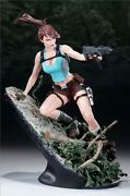 Lara Croft And The Gardian Of Light Tomb Raider Statue Sideshow Sold Out Premium