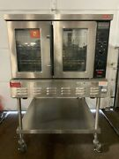 Lang Gcco-ap Accu-plus Natural Gas Full Size Convection Oven W/ Stand