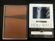 Nelson Kjv Holy Bible Giant Print Edition Toffee Leathersoft, 2011 With Box