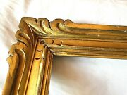 Antique Fits 18andrdquox22andrdquo Gold Gilt Gesso Carved Arts And Craft Era Art Deco Frame