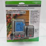 New Acurite Digital Cooking And Barbeque Thermometer With Wireless Remote Pager