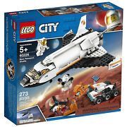 Lego City Mars Research Space Shuttle Nasa Playset With 2 Astronauts Open Box