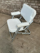 Marine Boat Deck Wide Folding Seat Chair White K.r. Industries