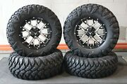Grizzly 550 27 Street Legal Radial Atv Tire 14 Barbwire Wheel Kit Irs1ca