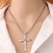 Classic Cross Style Necklace Fast And Furious Vin Diesel Style Silver For Ladies