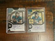 Lot 2 - Trevor Lawrence 2021 Panini Elements Rookie Auto Metal /50 Gold /79