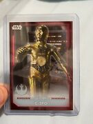 2021 Topps Star Wars Battle Plans Red Galactic Adversaries C-3po 1/1