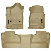 98233 Husky Liners Floor Mats Front New Tan For Chevy Chevrolet Silverado 1500