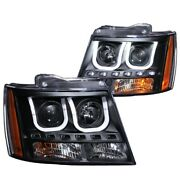 111273 Anzo Headlight Lamp Driver And Passenger Side New For Chevy Suburban Lh Rh