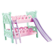 Miniature Plastic Bunk Bed Furniture Toys For Mellchan Baby Dolls Decoration