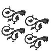 Set Of 4 Decorative Iron Branch Shaped Curtain Rods From