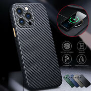 Carbon Fiber Slim Leather Case Cover For Iphone 13 Pro Max 12 11 Xs Xr 8 7 Plus