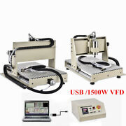 3d 3 Axis 1.5kw Vfd Cnc 6040 Router Engraver Pcb Metal Drill Milling Machine Us