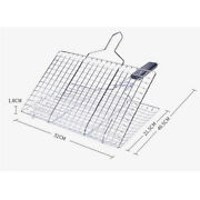 Bbq Non Stick Grill Basket Mat For Fish Vegetables Steak,stainless Steel With