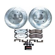 K2009-36 Powerstop Brake Disc And Pad Kits 2-wheel Set Front New For Chevy Yukon