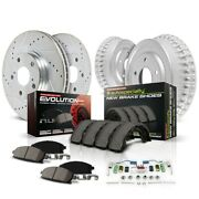K15122dk Powerstop 4-wheel Set Brake Disc And Drum Kits Front And Rear New