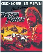 Chuck Norris Hand-signed Delta Force 8x10 W/ Lifetime Coa Lee Marvin Mini-poster