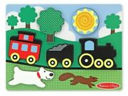 Melissa And Doug 13754 - Red Caboose Wooden Chunky Puzzle Train Complete
