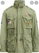 Polo Military Army M-65 One Star Patch Field Jacket Army Green L