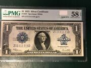 One Of A Kind Rare 1923 Sc Fancy Serial Number Solid 8 1s In Au58 Epq
