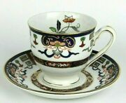 Vintage Ironstone Ware Occupied Japan Footed Demitasse Tea Cup And Saucer Set