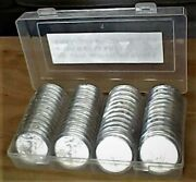 50 2019 Silver Eagle Dollars - In Holders - Free Shipping W/ins. - Uncirculated