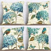 Set Of 4 Farmhouse Decorative Throw Pillow Covers 4 Pack Orchid Butterfly