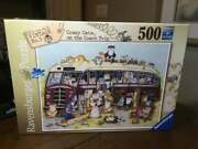 New Ravensburger Crazy Cats On The Coach Trip 500 Piece Jigsaw Puzzle