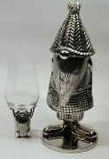 Pottery Barn Gnome Shaped Cocktail Shaker With Wine Glass Stand Free Shipping
