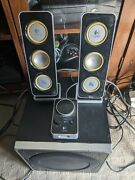 Logitech Z4 Speakers, Two Speakers, Subwoofer And Control Module Included.