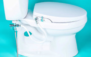 Geniebidet [round] Seat-self Cleaning Dual Nozzles. Rear And Feminine Cleaning - T