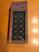Antique Partrick And Wilkins Servant Butler Oak Call Box 10 Rooms 1890andrsquos