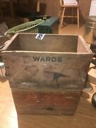 2 Vintage Ammo Crates Peters 12 Gauge Wooden Crate And Wards Red Head Shell Crat