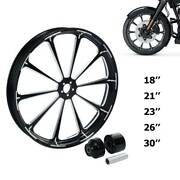 18/21/23/26/30and039and039 Front Wheel Rim Single/dual Disc Fit For Harley Touring 08-21