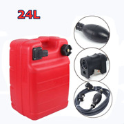 24l Portable Outboard Boat Marine Fuel Tank Marine With Connector + Fuel Line