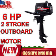 6 Hp 2-stroke Gasoline Outboard Motor Fishing Boat Engine W/water Cooling Cdi