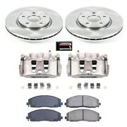 Kcoe5959 Powerstop 2-wheel Set Brake Disc And Caliper Kits Front New For Vw